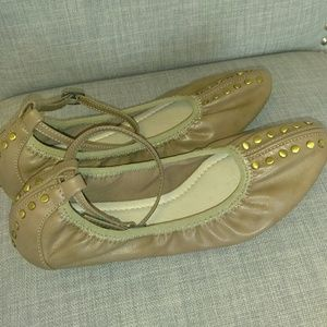 Tan with stones ballet flat